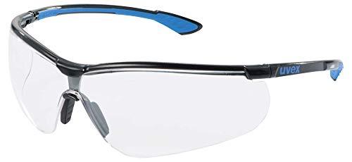 Uvex Sportstyle AR Schutzbrille - Transparente Arbeitsbrille - Schwarz-Blau