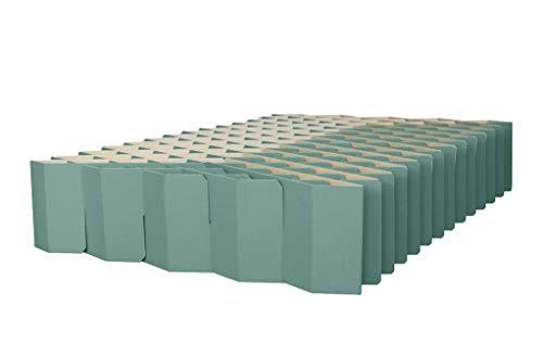 ROOM IN A BOX Bett 2.0 M/Salbei: Klappbett aus Wellpappe 120 140 x 200 cm und Zwischengrößen. Auch als Gästebett. Lattenrost Nicht nötig.