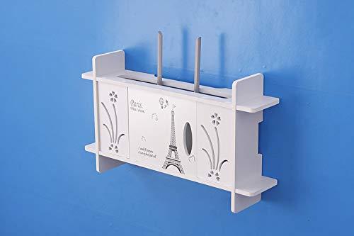 HX home Router opbergdoos zon bloem pruim toren patroon gratis ponsen set top box muur blokkeren muur opknoping