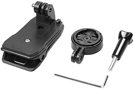 YALIXING Accesorios GPS - Adaptador de Soporte GPS con Bolso de 360 Grados Clip de liberación rápida para Garmin Edge Cycle GPS 25 200 500 Traerte una Mejor Experiencia de conducción