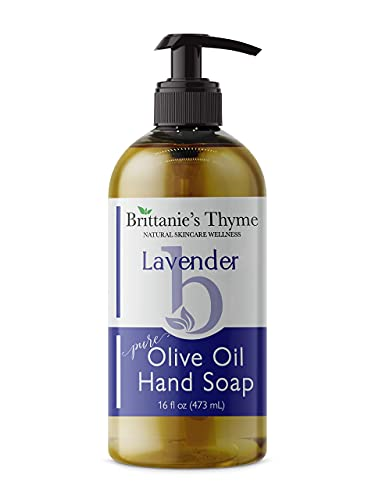 Organic Natural Hand Soap, 16 oz (Lavender) Moisturizing Castile Soap Made Olive Oil And Natural Luxurious Essential Oils. Vegan, Gluten & Cruelty Free,