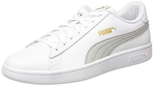 PUMA Unisex-Erwachsene Smash V2 L Sneaker, Weiß-grau Violet Team Gold, 42 EU