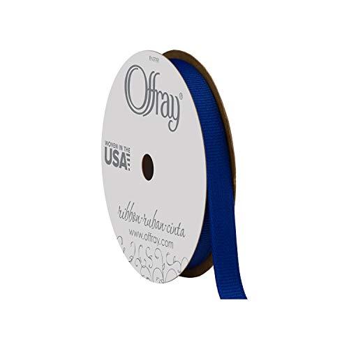 Offray Grosgrain Craft Ribbon, 3/8-Inch x 18-Feet, Century Blue