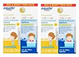 Equate Children's Homeopathic Daytime & Nighttime Cold & Mucus Liquid Twin Pack, 4 fl oz, 2 Pack (Pack of 2)
