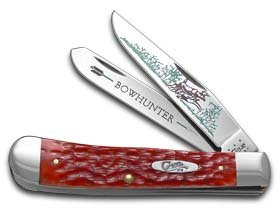 CASE XX Bow Hunter Red Bone Trapper 1/600 Stainless Pocket Knife Knives -  W.R. Case & Sons Cutlery Co., RB-BH