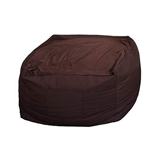 Bolsa de Frijoles Multicolores Tatami Lazy Sofá Soltero cómodo pequeño sofá Dormitorio Sala de Estar Silla Simple 63 cm (Color: Naranja) WDH666 (Color : Brown)