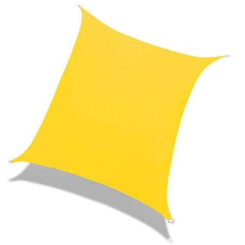 Laxllent Sonnensegel Rechteck 2.4x3m Gelb,UV Schutz Wasserdicht,aus Reißfestem PES,Wetterfest Winddicht,Sonnenschutz für Garten Terrasse
