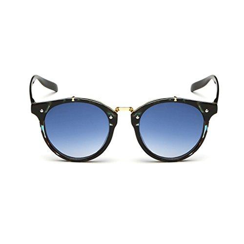QHGstore Hombres Mujeres Nuevas gafas de sol al aire libre UV400 de conducción espejo Gafas Green pattern/blue