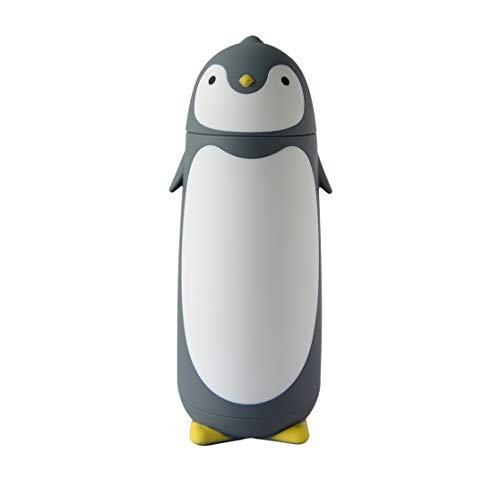 ChezMax Penguin Cartoon Water Bottle for Kids Water Glass 10.0oz Blue