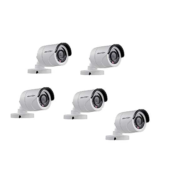 HIKVISION Full HD 2MP Cameras Combo Kit (DS-2CE1AD0T-IRP/ECO) - Pack of 5