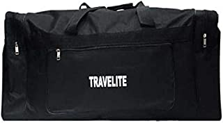 Travelite Polyester Duffle Bag For Unisex,Black - Travel Duffle Bags