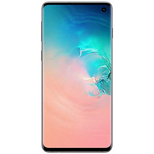 "Samsung Galaxy S10 Smartphone, 128GB, Display 6.1"", Dual SIM,  Bianco (Prism White) [Altra Versione Europea]"