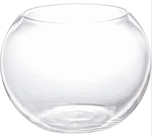 BERTY·PUYI Recipiente de Vidrio Mesa Cuadrada de Vidrio Cuenco Pecera Interior Acuario Objeto Interior Grande de Moda Acuario Terrario Jarrón (30 CM)-25CM
