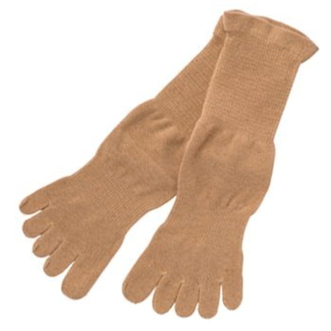 要旨アクションボルト五本指薄手ソックスMブラウン:オーガニックコットン100% 履くだけで足のつぼをマッサージし、健康に良いソックスです!