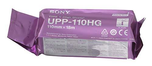 Sony UPP110HG High Glossy Papel térmico VideoGraphic Rollos para impresoras médicas, A6, 110 mm x 18m