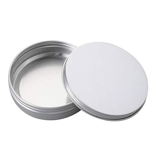 GARNECK 24 Unidades de 60Ml de Aluminio Bote de Lata de Metal Redondo Recipiente para Botellas para Uñas Bálsamo Labial Crema Productos de Belleza Maquillaje Estuche para Cosméticos