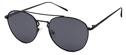 Gafas de sol Toledo unisex, polarizadas, negro mate (Ptol76)