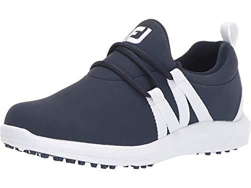 FootJoy Women's Leisure Slip-On Golf Shoes Blue 7 M, Navy/White, US