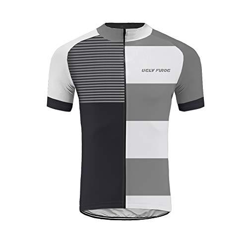UGLY FROG Sommer Herren Kurze Ärmel Radtrikot Fahrradtrikot Radshirt Fahrradbekleidung für Männer mit Elastische Atmungsaktive Schnell Trocknen Stoff