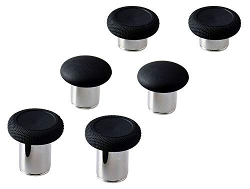 E-MODS GAMING® 6 in 1 Swap Thumbstick Grips Replacement Parts for Xbox One Elite Controller - Black