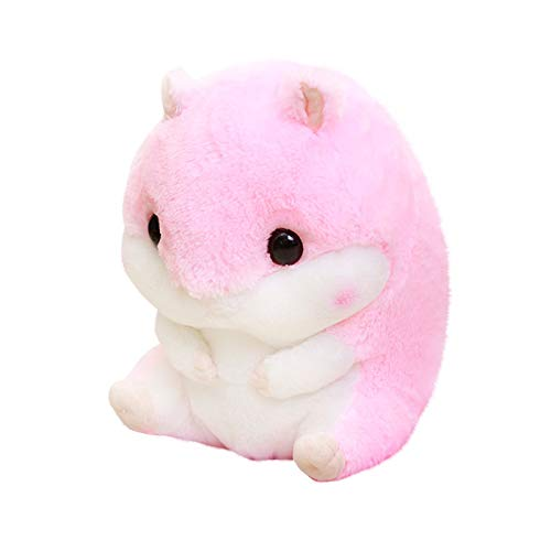 HSD Cojín de peluche para niños con forma de hámster suave de algodón, con cojín, ideal como regalo para mujer o niño (A)