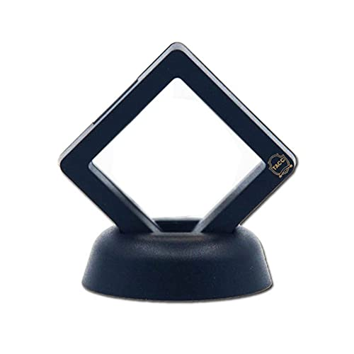 Caja de marco de exhibición de monedas conmemorativas de metal negro Caja de plástico Caja de exhibición de monedas flotantes Caja resistente de buen sellado