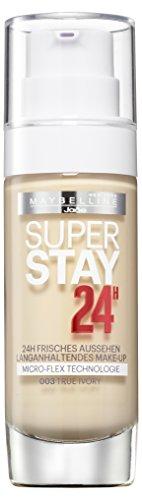 Maybelline New York Super Stay 24H Make-Up True Ivory 03 / Schminke in einem hellen Hautfarben-Ton, für eine langanhaltende Abdeckung und einen makellosen Look, 1 x 30 ml