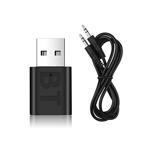 ZIMEI MEIKAI Coche Bluetooth 5. 0 Adaptador De Audio Receptor Música Inalámbrica 3. 5mm Auxiliar Receptor De Audio Jack USB Mini Ajuste Bluetooth For Autoradiador Estéreo