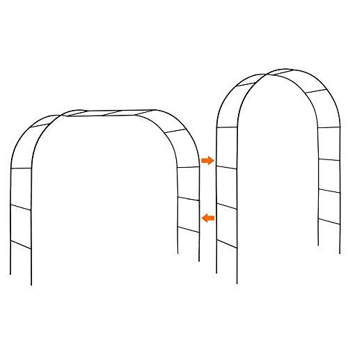 Mr. Ton Garden Arch, Wedding Arch, Garden Arbor Pergola for Indoor/Outdoor Lawn Garden Various Climbing Plants, 7'8' High x 4'5' Wide