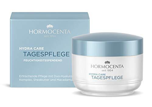 HORMOCENTA Hydra Care Tagespflege - Erfrischende Pflege mit Duo-Hyaluron-Komplex, Sheabutter und Macadamianussöl - 50 mL (+ Gratis Hologram Sticker)