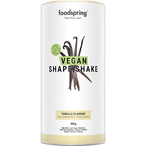 foodspring Shape Shake Vegano, Vainilla, 900 g, Tu delicioso batido sustituto de comidas, a base de plantas y alto en proteínas, para bajar de peso*