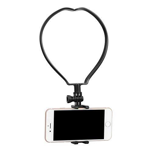 Yoogeer VLOG/POV Adjustable Cellphone Selfie Neck Mount Holder Strap for Action Camera/Gopro Hero/Apple iPhone SE 11 Xs X 8 7 Samsung Galaxy S20 S20+ BLU Phone (Neck Mount)