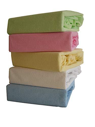 Spannbettlaken Kinderbett Inkontinenz Wasserdicht FROTTE mit Polyurethane Membrane 60x120 70x140 80x160 (70x140, Grün)
