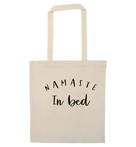 Flox Creative Tragetasche Namaste im Bett, Beige - natur - Größe: Einheitsgröße