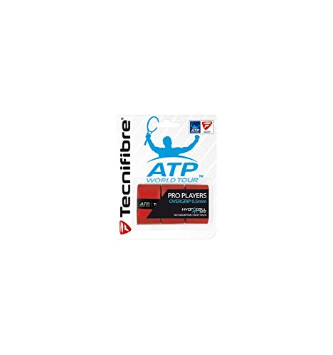 Tecnifibre ATP Pro Players Overgrip - 3 Pack, Color- Red