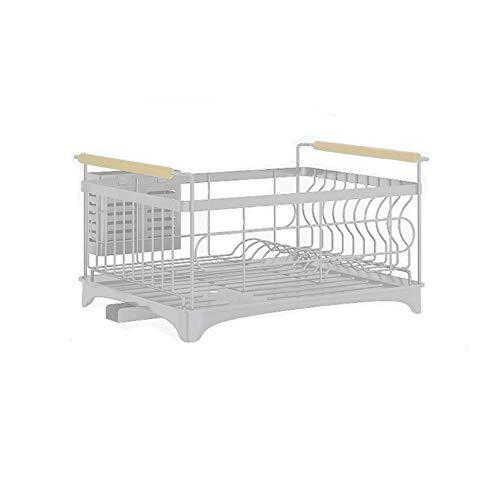 Cabina Home - Escurreplatos con bandeja extraíble, acero inoxidable, para suministros de cocina para el hogar, una y doble capa