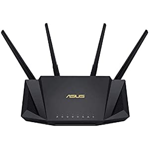"ASUS WiFi 無線 ルーター WiFi6 2402+574Mbps デュアルバンド RT-AX3000【 メッシュ機能付 】【 3階建/4LDK..."""