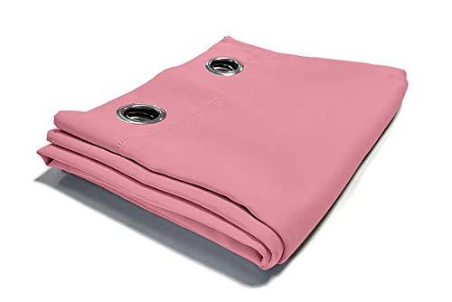 cortinas rosas 2 unidades