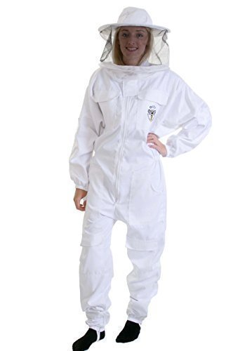 Costume d'Apiculteur - Taille 4XL avec Chapeau Plat et Double Voile