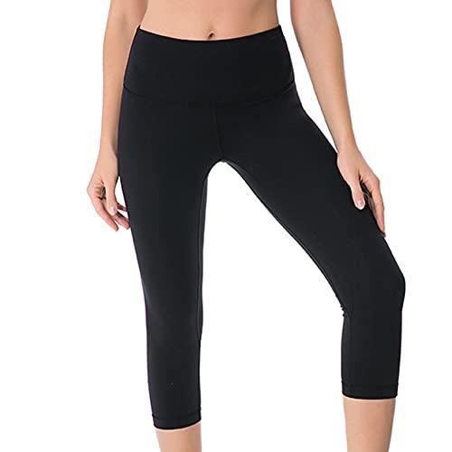 Aotorr - Pantalones de yoga para mujer, talla alta ultra suave Negro XL
