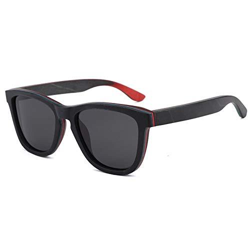 Kaper Go Sonnenbrillen UV400 Grau Sonnenbrille Männer Und Frauen Skateboard Holz Holz Polarisierte Sonnenbrille Handgefertigt