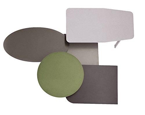 L'Aquila Design Arredamenti BONALDO set di tavolini Collage diverse misure e forme salotto TD44