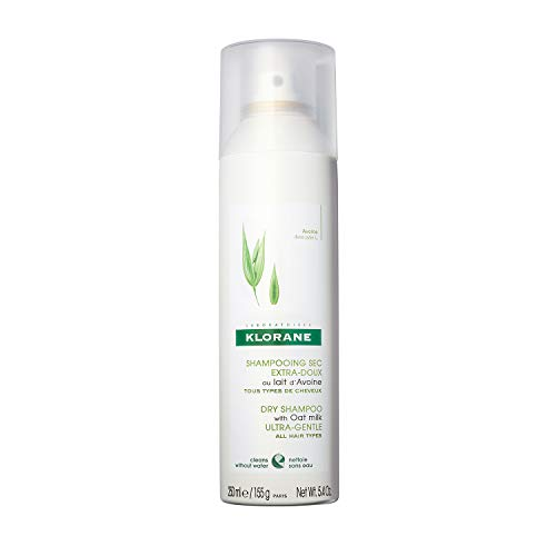 Klorane Dry Shampoo with Oat Milk, Ultra-Gentle, All Hair Types, No White Residue, Paraben & Sulfate-Free, Jumbo Size, 5.4 oz.