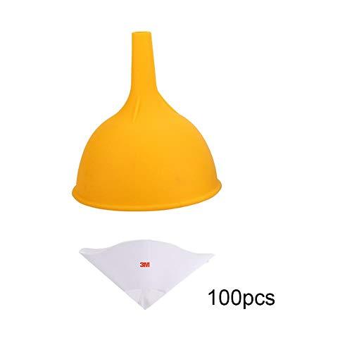 3D Printer Funnel 100PCS DLP SLA Lichtgevoelige Hars Papieren Trechter + 1 Siliconen Trechter voor ANYCUBIC PHOTON voor EZ3DX X-5 X-6/voor KLD-LCD1268-A1