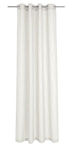 Deko Trends Traviata 623679670–Tenda con Occhielli, Tessuto, 245,0x 137,0x 245,0cm, Colore: Bianco