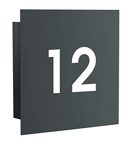 Frabox® LED-Design Hausnummer Hausnummernleuchte NAMUR mit Dämmerungssensor