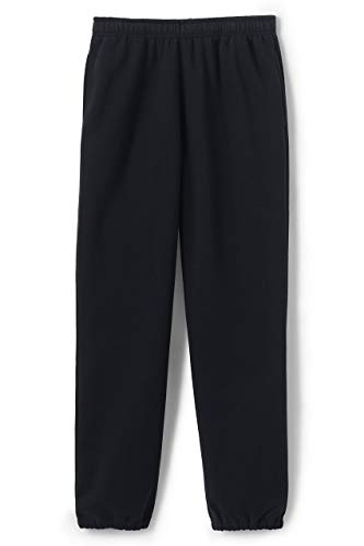 Lands' End Men s Serious Sweat Pants Black Regular X-Small
