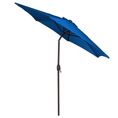 Panama Jack PJO-6001-BLUE Outdoor Patio Umbrella, Blue