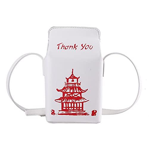 MEIBAOGE Chinese toren afdrukken vak schoudertassen voor vrouwen mode cartoon crossbody tas