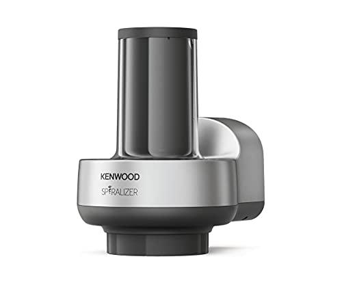 Kenwood KAX700PL Spiralschneider | Küchenmaschinen Zubehör | Geeignet für alle Chef und kMix Küchenmaschinen, Silber Grau